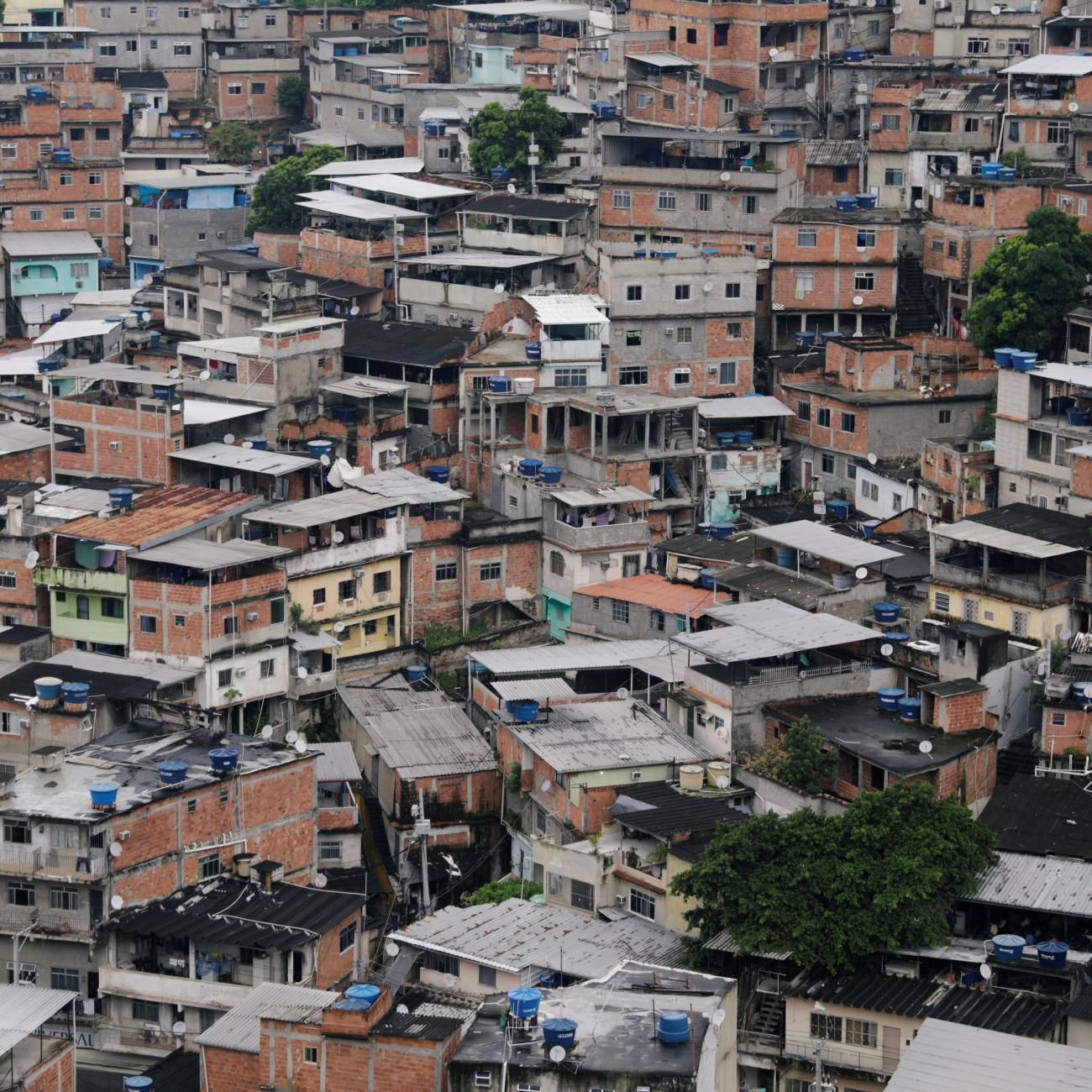 A general view of Alemao slums complex during the coronavirus disease outbreak in Rio de Janeiro, Brazil on March 22, 2020.