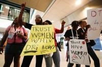 Women dance requesting for a better access to treatment for Africans suffering from HIV/AIDS, at the start of the 22nd International AIDS Conference (AIDS 2018), the largest HIV/AIDS-focused meeting in the world, in Amsterdam, Netherlands, July 23, 2018.