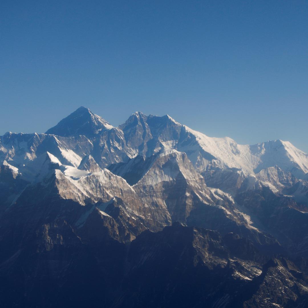 Mount Everest, the world's highest peak, seen through an aircraft window during a mountain flight from Kathmandu, Nepal on January 15, 2020. REUTERS/Monika Deupala