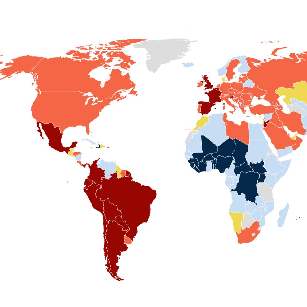 COVID-19 is the leading cause of death in France, England, Mexico, and Brazil, and the second leading cause in the U.S.