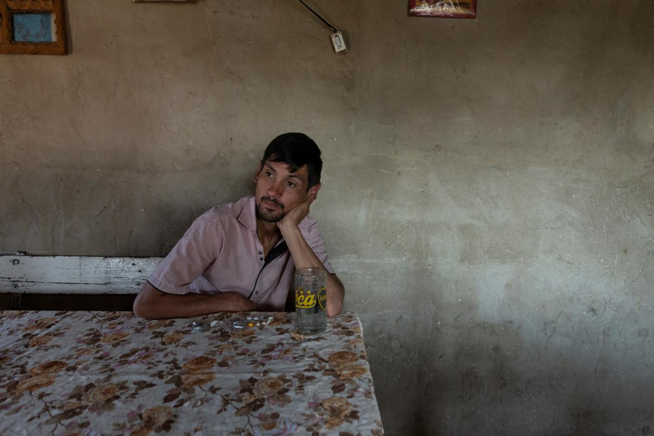 Cristian Molina, 26, takes his tuberculosis medication at his house in the shantytown of Lujan in Buenos Aires, Argentina, September 26, 2019. Molina is prescribed to take 11 tablets per day, seven in the morning and four in the afternoon, which often give him a stomachache.