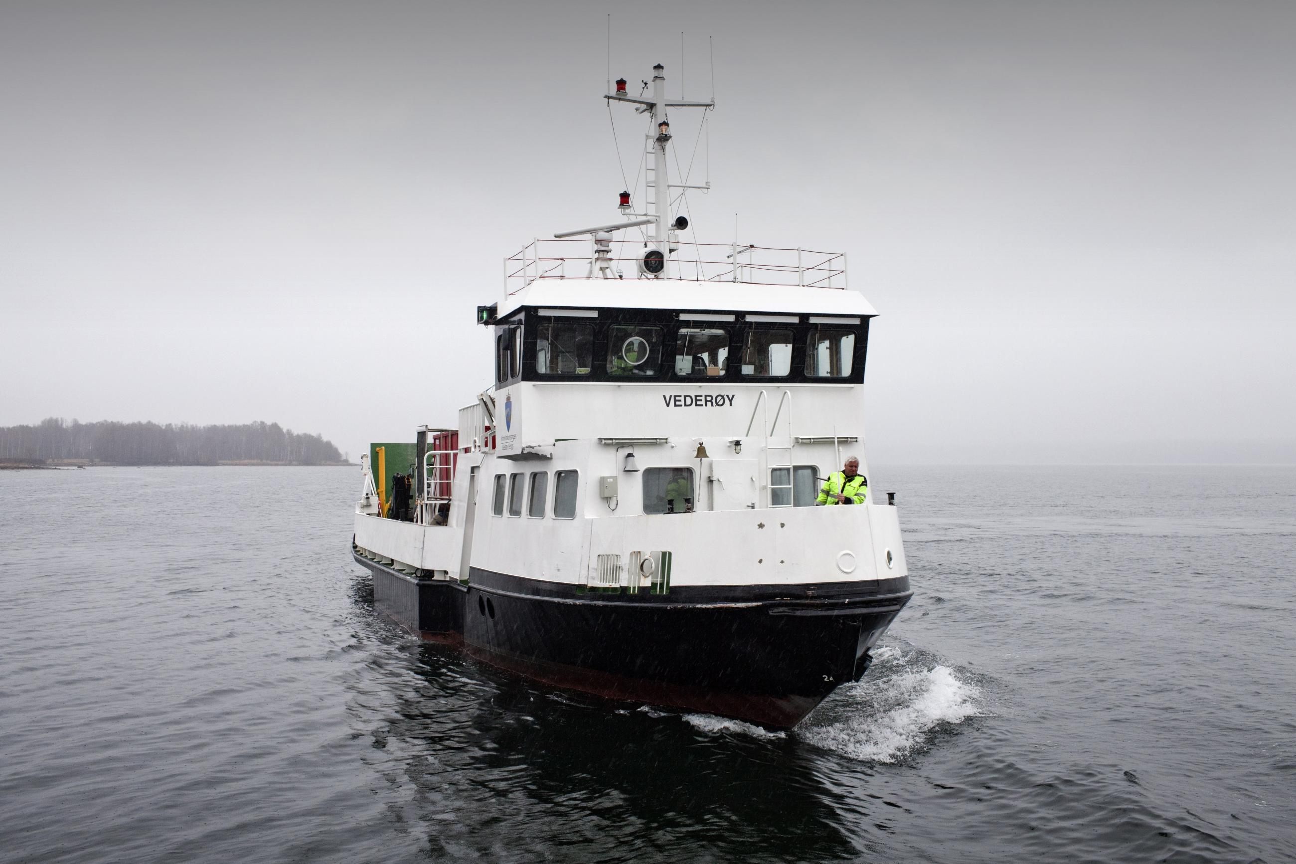 The ferry that travel from the mainland to Bastoy prison is seen as it approaches Bastøy Prison in Horten, Norway on April 12, 2011.